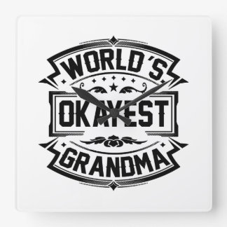 World's Okayest Grandma Wall Clock
