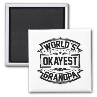 World's Okayest Grandpa Magnet