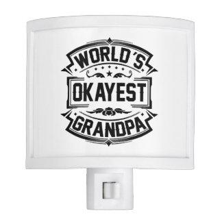 World's Okayest Grandpa Night Lite