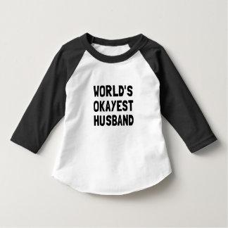 Worlds Okayest Husband T Shirts