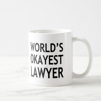 World's Okayest Lawyer funny Coffee Mug