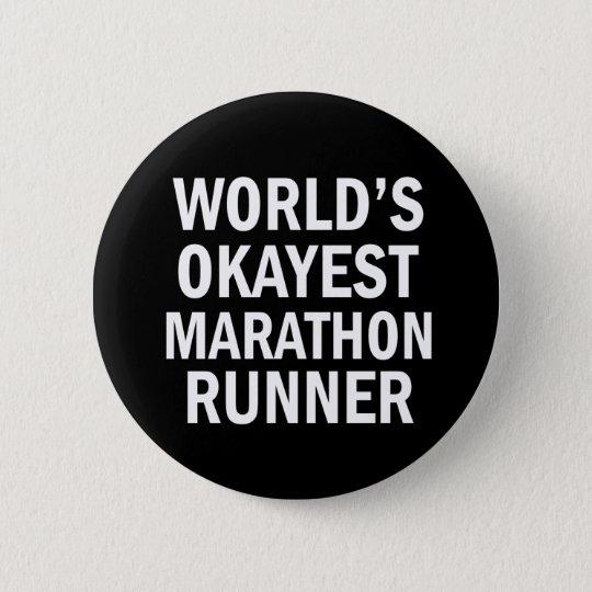 World's Okayest Marathon Runner button