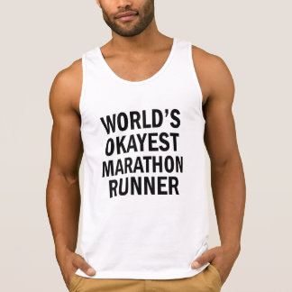 World's Okayest Marathon Runner men's tank top