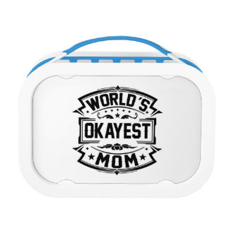 World's Okayest Mom Lunch Box