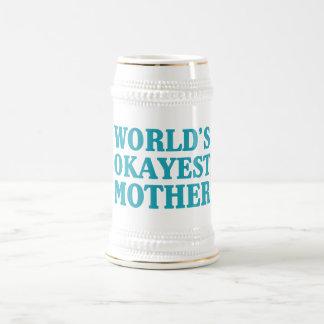 World's Okayest Mother Beer Stein