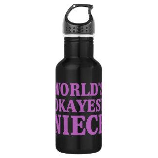 World's Okayest Niece 532 Ml Water Bottle