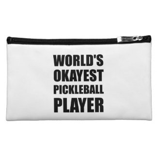 Worlds Okayest Pickleball Player Funny Makeup Bag