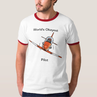 World's Okayest Pilot Funny Aviation Shirt