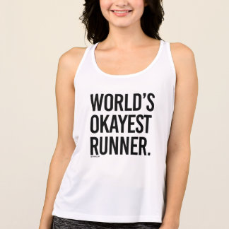 World's Okayest Runner -  .png Tank Top