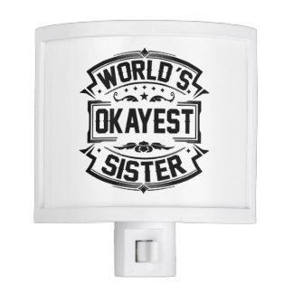 World's Okayest Sister Night Light