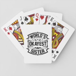 World's Okayest Sister Playing Cards
