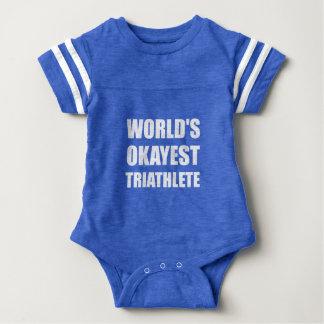 World's Okayest Triathlete Baby Bodysuit
