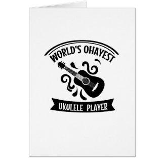 World's Okayest Ukulele Player Uke Music Love Gift Card