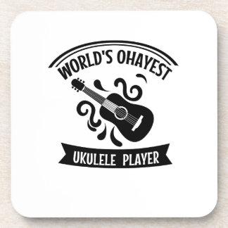 World's Okayest Ukulele Player Uke Music Love Gift Coaster
