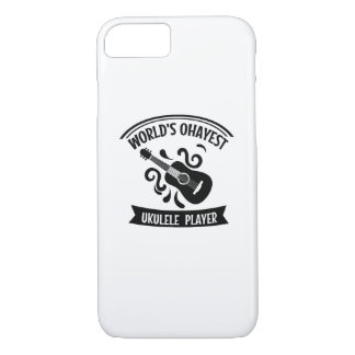 World's Okayest Ukulele Player Uke Music Love Gift iPhone 8/7 Case