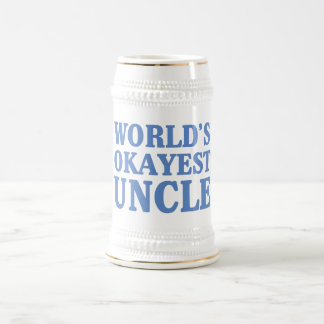 World's Okayest Uncle Beer Stein