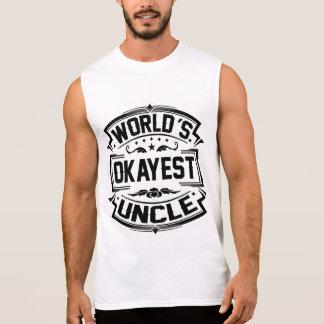 World's Okayest Uncle Sleeveless Shirt