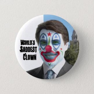 World's Saddest Clown, No to Perry in '12 2 Inch Round Button