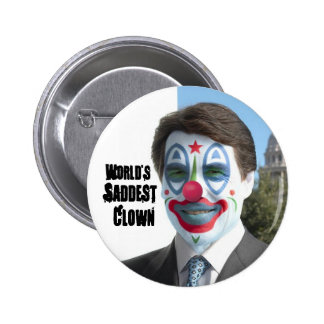 World's Saddest Clown, No to Perry in '12 2 Inch Round Button