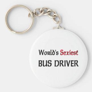 World's Sexiest Bus Driver Basic Round Button Keychain