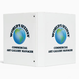 World's Sexiest Commercial Art Gallery Manager Vinyl Binders