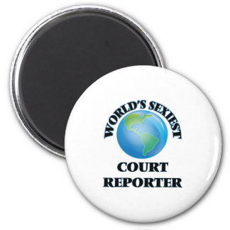 World's Sexiest Court Reporter Refrigerator Magnet