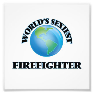 World's Sexiest Firefighter Art Photo