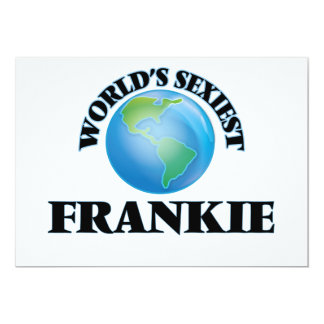 "World's Sexiest Frankie 5"" X 7"" Invitation Card"
