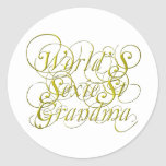 Worlds Sexiest Grandma Round Stickers