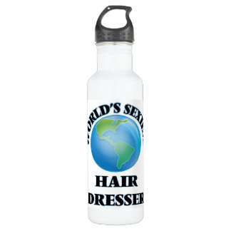 World's Sexiest Hair Dresser 24oz Water Bottle