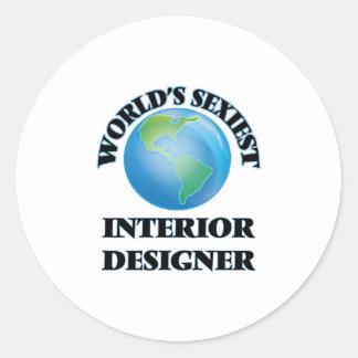 World's Sexiest Interior Designer Round Stickers