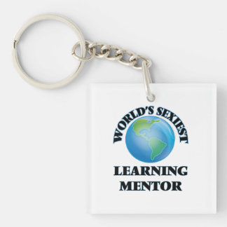 World's Sexiest Learning Mentor Square Acrylic Keychains