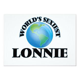 World's Sexiest Lonnie 5x7 Paper Invitation Card
