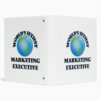 World's Sexiest Marketing Executive 3 Ring Binders