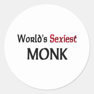 World's Sexiest Monk Round Stickers