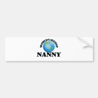 World's Sexiest Nanny Bumper Stickers