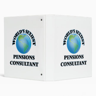 World's Sexiest Pensions Consultant 3 Ring Binders
