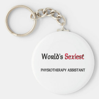 World's Sexiest Physiotherapy Assistant Basic Round Button Keychain