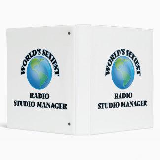 World's Sexiest Radio Studio Manager 3 Ring Binders