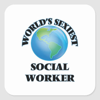 World's Sexiest Social Worker Square Sticker
