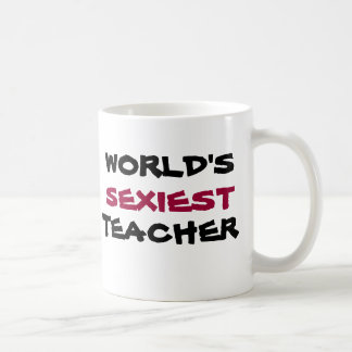 WORLD'S SEXIEST TEACHER, coffee cup Classic White Coffee Mug