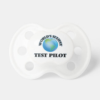 World's Sexiest Test Pilot Baby Pacifier