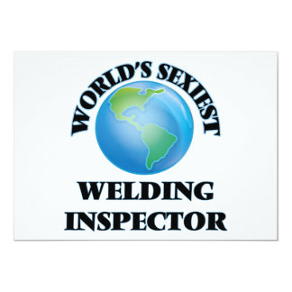 World's Sexiest Welding Inspector 5x7 Paper Invitation Card
