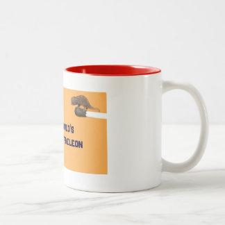 world's smallest chameleon Two-Tone coffee mug