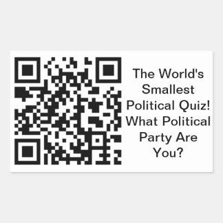 Worlds Smallest Political Quiz Sticker