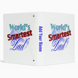 Worlds Smartest Dad Vinyl Binders