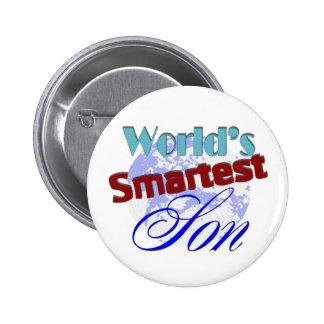 Worlds Smartest Son 2 Inch Round Button
