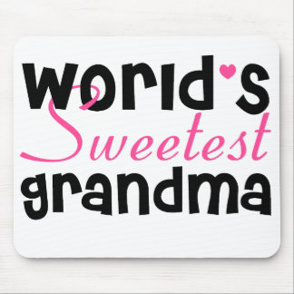 World's Sweetest Grandma mouse pad