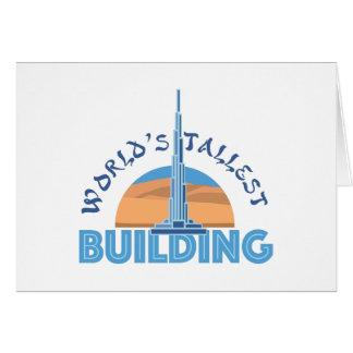 Worlds Tallest Building Card
