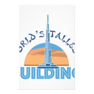 Worlds Tallest Building Custom Stationery